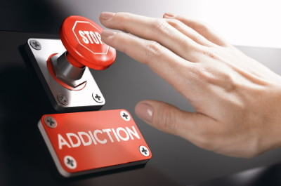 stop addiction button
