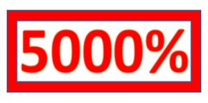 5000% stamp