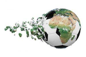 globe and footbal