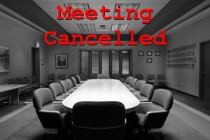 empty boardroom meeting cancelled