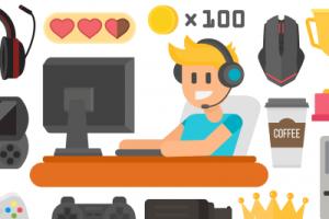 teen playing video games cartoon