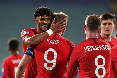england team celebrate international goal