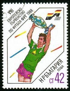 euro 1988 stamp