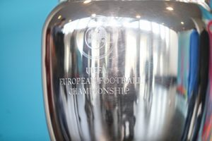 european championship trophy close up