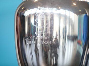 european championship trophy close up