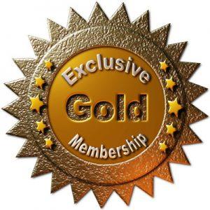 exclusive gold membership badge