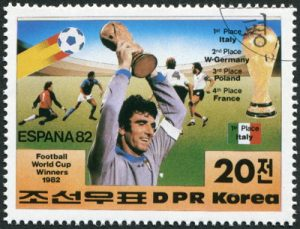 world cup stamp spain 1982