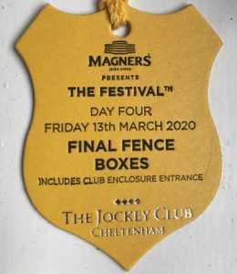 cheltenham gold cup day hospitality badge