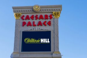 caesars palace sign with william hill logo
