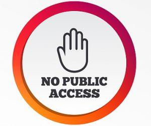 tidak ada tanda akses publik