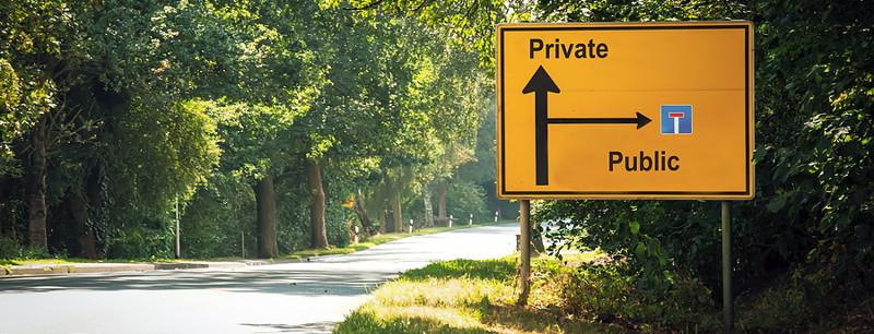 tanda jalan umum pribadi