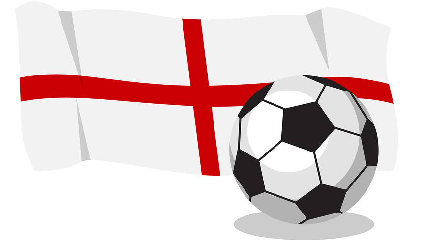 english flag with football