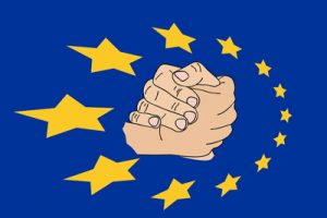 eu stars with hands joined