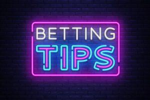 betting tips written in neon lights