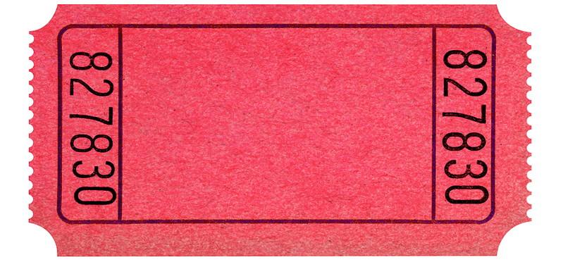 plain raffle ticket red