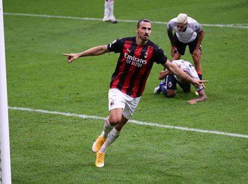 zlatan Ibrahimovic playing for ac milan