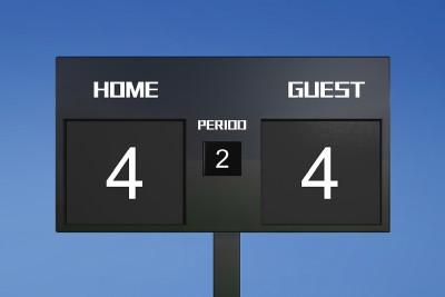 score draw football 4-4
