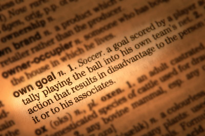 own goal definition dictionary