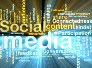 ilustrasi kata konsep media sosial